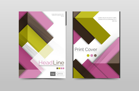 base: Geometric brochure front page, business annual report cover vector template, A4 size poster Illustration