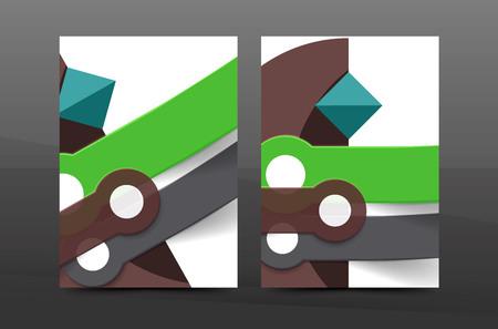 flyer A4 polyvalente ou annuelle mise en page du rapport. Divers conception de formes géométriques. Page de format A4