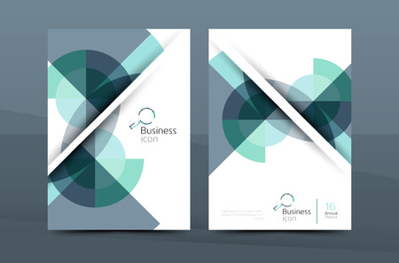 Design of annual report cover brochure, flyer template layout, vector leaflet abstract background, A4 size page