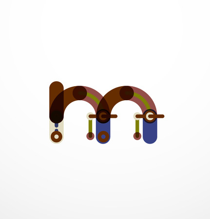 Line letter design concept