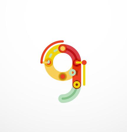 children s book: Colorful funny cartoon letter icon. Business design Illustration