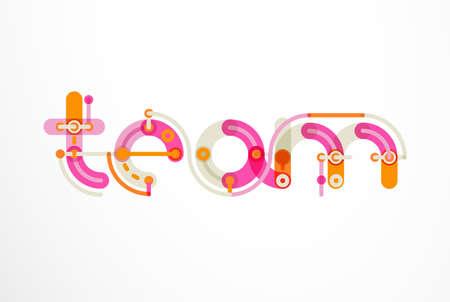 Geometric design letters. Minimal icon Illustration