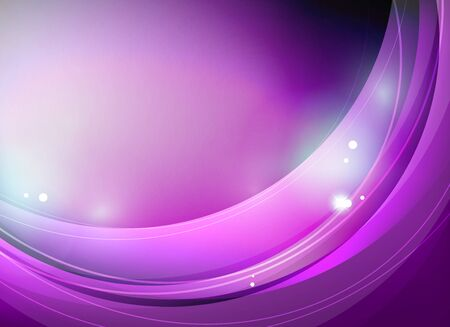 purple swirl: Purple swirl or wave pattern abstract template. With futuristic light effects Illustration