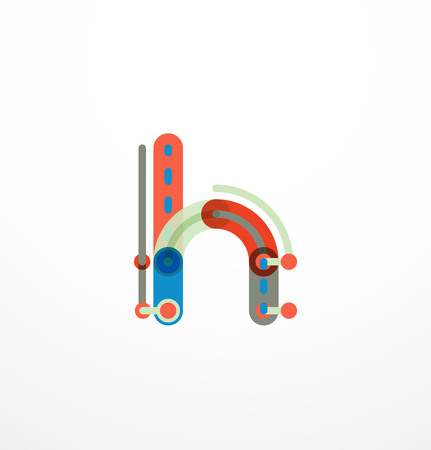 Colorful funny cartoon letter icon. Business design Illustration