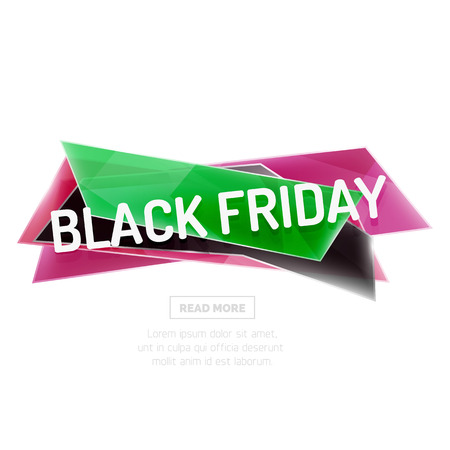 ad: Vector geometric shape ad promo banner. Abstract universal layout