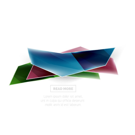 promo: Vector geometric shape ad promo banner. Abstract universal layout