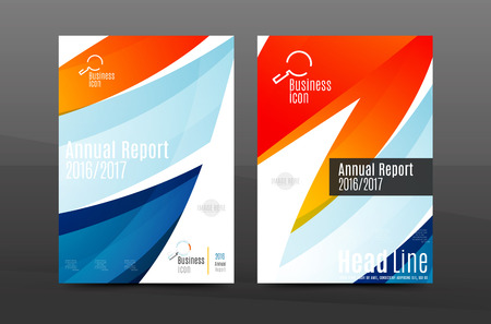Colorful Swirl Design Annual Report Cover Template. Brochure, Flyer Template  Layout, Vector Leaflet  Annual Report Cover Template