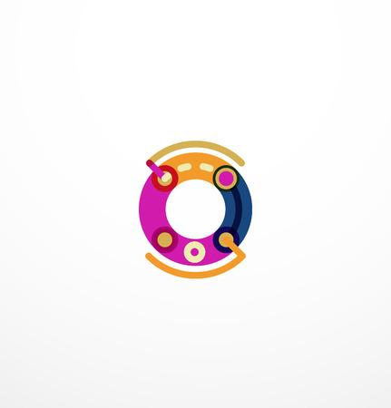 Line letter design. concept