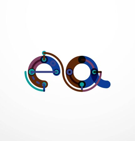 unfinished: Line letter design.