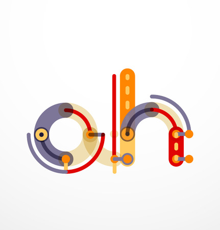 cross linked: Linear initial letters,   branding concept, cartoon funny style Illustration