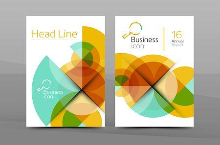 Page couverture d'affaires conception, brochure dépliant mise en page, résumé présentation affiche de fond, taille A4