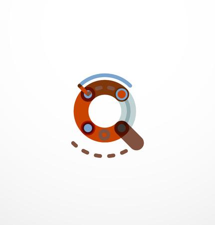unfinished: Line letter design concept