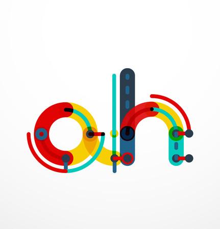 children s art: Colorful funny cartoon letter icon.