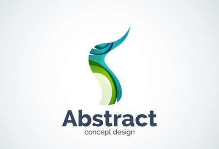 Zusammenfassung Welle Vorlage, Glatte Bewegung Konzept. Farbe ...