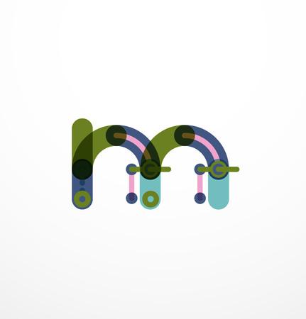 Line letter design.