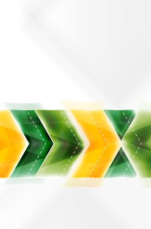 Colorful arrows composition. Vector web brochure, internet flyer, wallpaper or cover poster design. Illustration