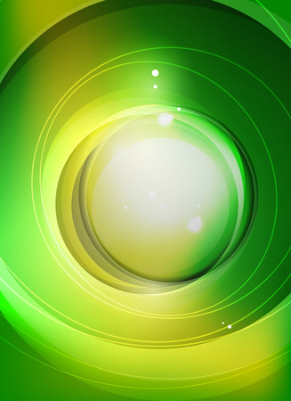 green swirl: Green swirl pattern abstract background with light effects and circle at the centre