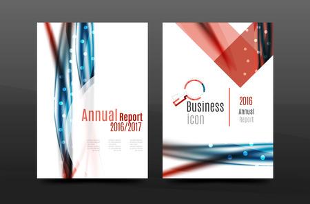 feathering: Swirl wave annual report for business correspondence letter. Flyer design. Vector illustration Illustration