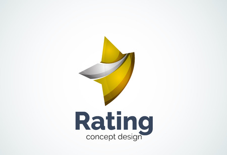 choice concept: Star   template, rating or best choice concept. Modern minimal design created with geometric shapes - circles, overlapping elements Illustration