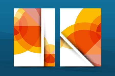periodical: Orange annual report A4 cover. Brochure template layout, magazine, flyer or booklet. Vector