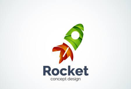 Rocket abstract elegant business icon