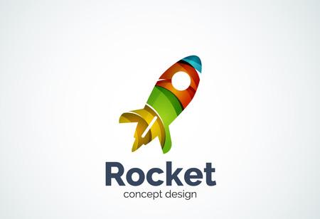 astronautics: Rocket  abstract elegant business icon