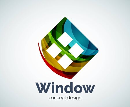 Window template, abstract vector business icon