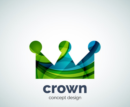 Crown logo template, abstract business icon Logo