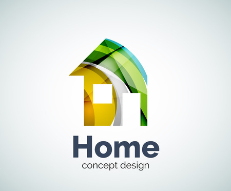 Home real estate template, abstract elegant glossy business icon