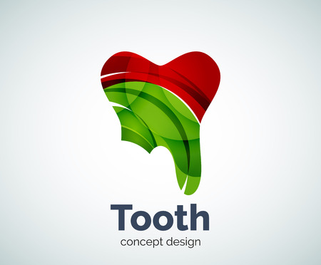 abstract tooth: Vector tooth template, abstract business icon