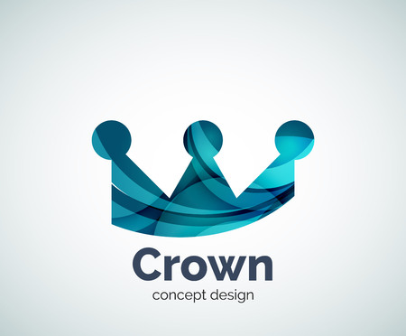 crown logo: Crown logo template, abstract business icon