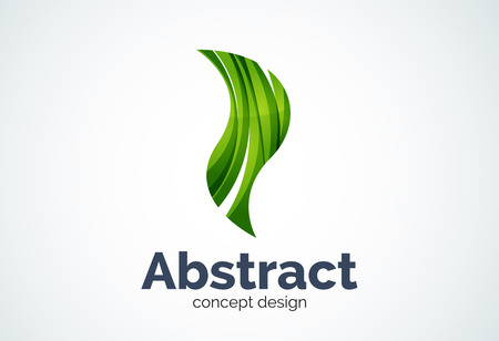 color design: Abstract wave template, smooth motion concept. Color overlapping pieces design style