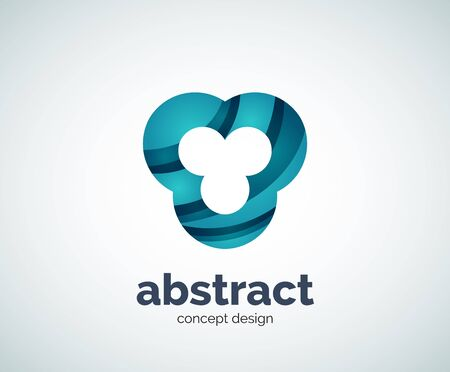 abstact: Vector abstact shape  template, abstract business icon Illustration