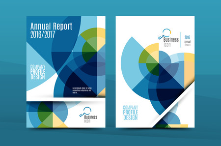 Colorful fresh business A4 cover template - flyer, brochure, book cover and annual report. Geometric design abstract background Vektorové ilustrace