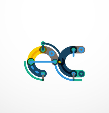 Kleurrijke grappige cartoon letter icon. Zakelijke logo design