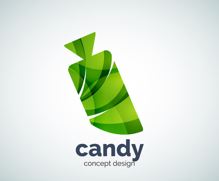 Vector candy logo template, abstract business icon Illustration