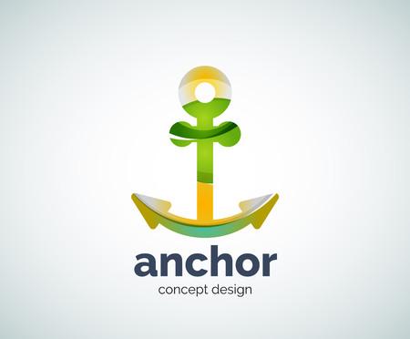 ship anchor: Vector ship anchor   template, abstract business icon