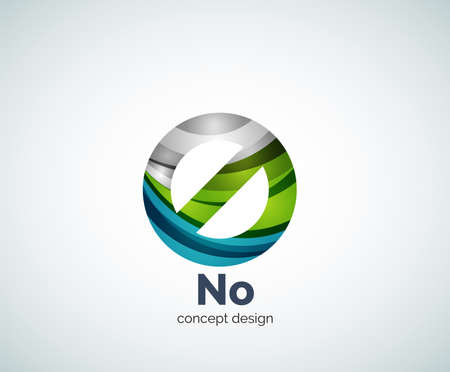 prohibition: Vector no concept, prohibition logo template, abstract business icon