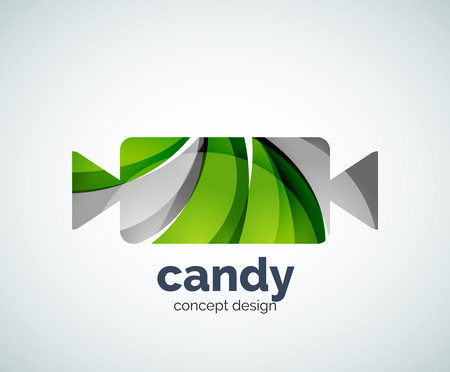 chew: Vector candy  template, abstract business icon Illustration
