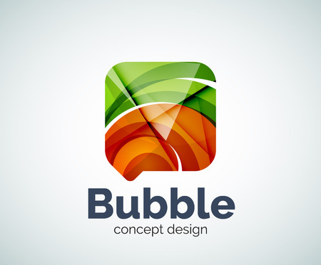 Bubble  template created with abstract geometric overlapping elements