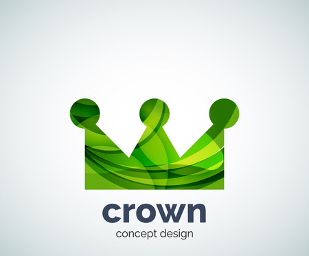 Crown template, abstract business icon Illustration