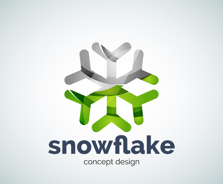 Vector Christmas snowflake  template, abstract business icon Illustration