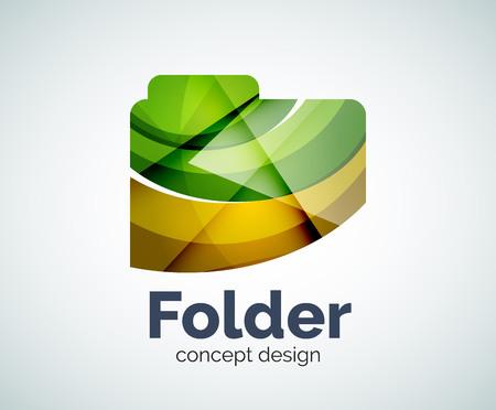 directory: Computer folder  template, abstract elegant glossy business icon