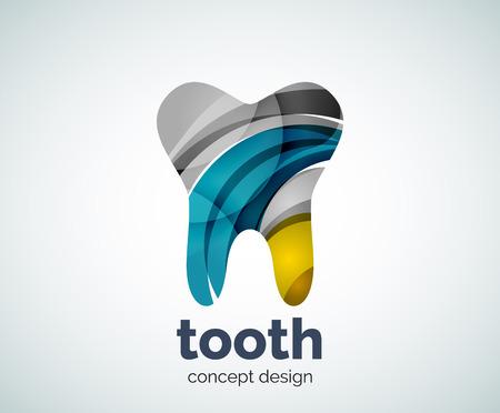 Vector Zahnschablone, abstrakt business icon