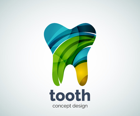 abstract tooth: Vector tooth   template, abstract business icon Illustration