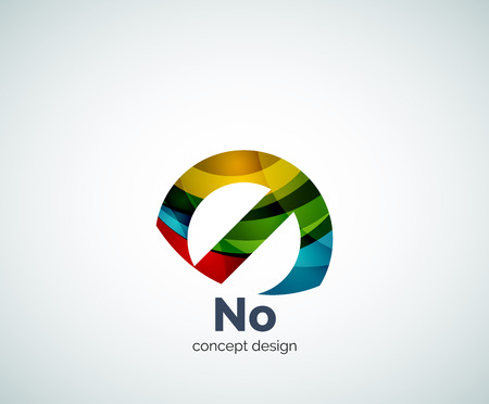 Vector no concept, prohibition template, abstract business icon Illustration