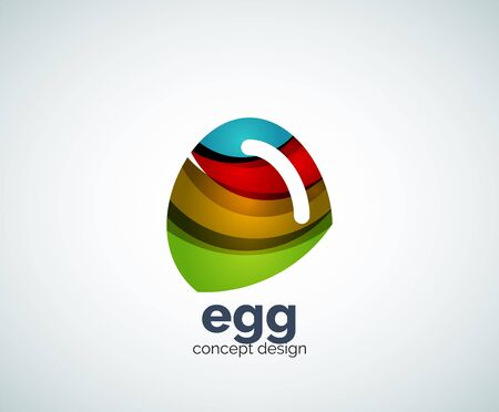 Vector egg template, abstract business icon Vektorové ilustrace