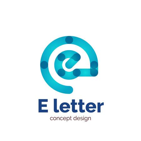 minimalistic: Vector modern minimalistic letter concept