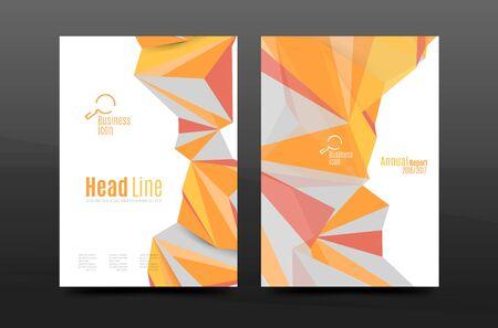 formas de triángulo 3d. portada informe anual de negocios. folleto de presentación de tamaño A4 o informe de la correspondencia corporativa