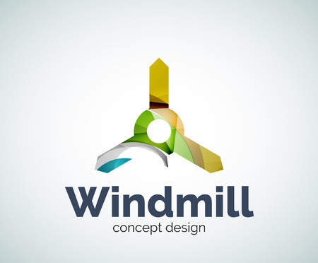 Windmill   template, abstract elegant glossy business icon